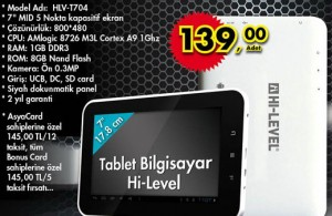Hi-Level Tablet t704