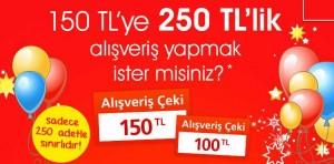 ebebek-150 TL Hediye Çekine 100 TL Hediye